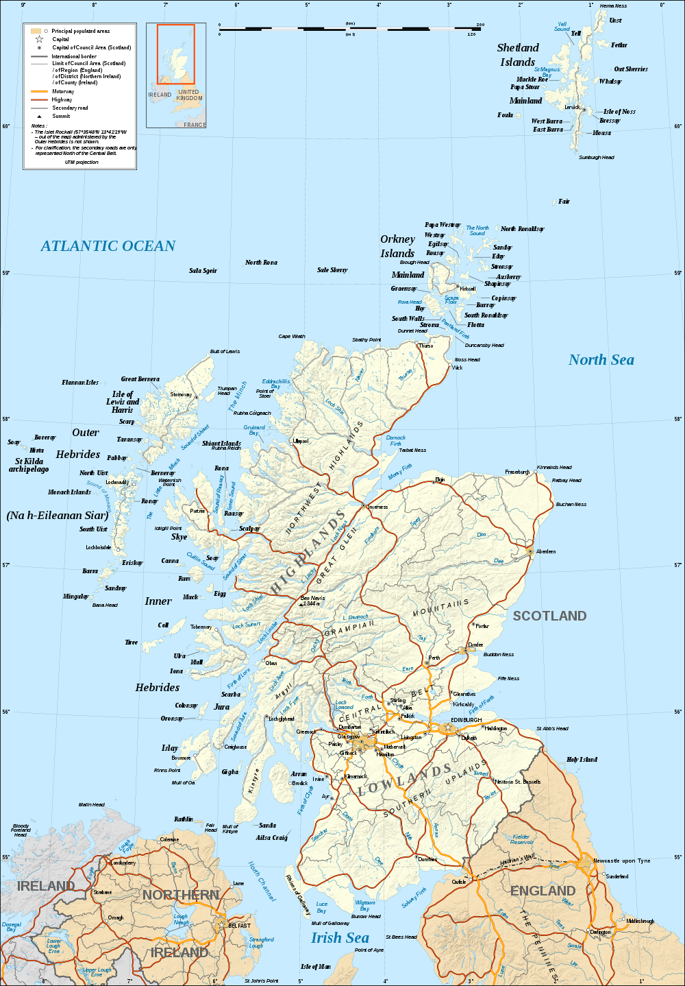 Map of Scotland Relief Map online Maps and Travel Infor