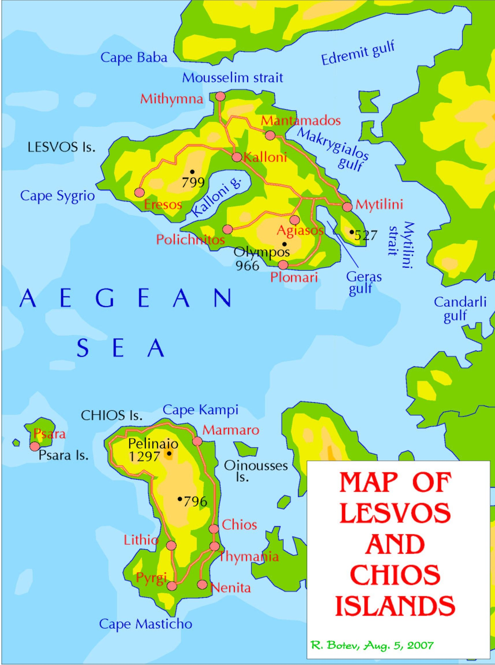 map of lesbos and chios online maps. Black Bedroom Furniture Sets. Home Design Ideas
