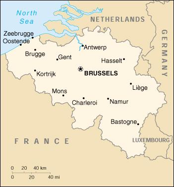 Map of Belgium (Small Overview Map) : Worldofmaps.net ...