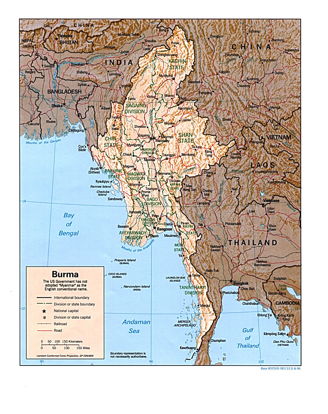 Map Of Myanmar Relief Map Worldofmaps Net Online Maps And