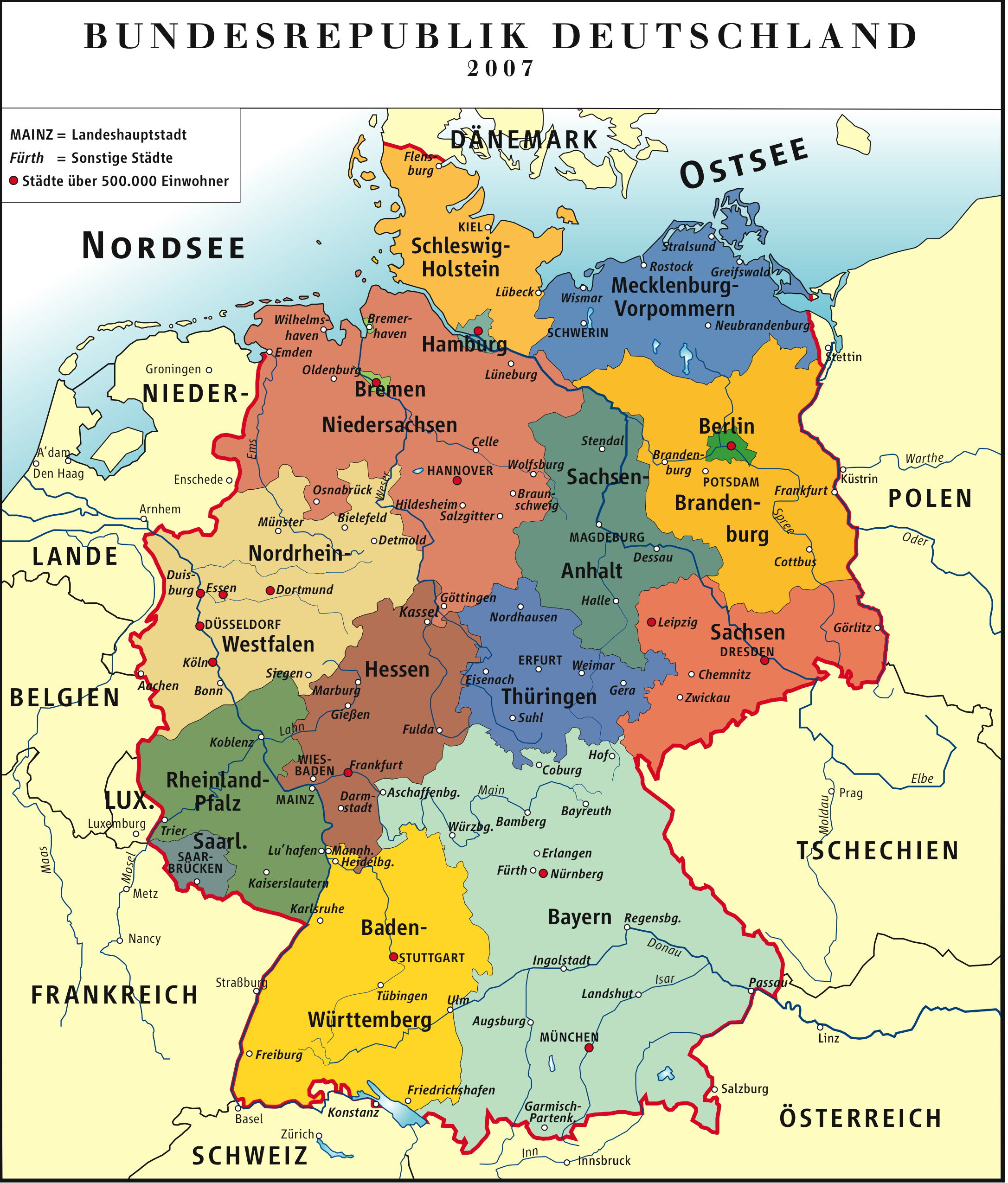 Map of Germany (Political Map) : Worldofmaps.net - online ...
