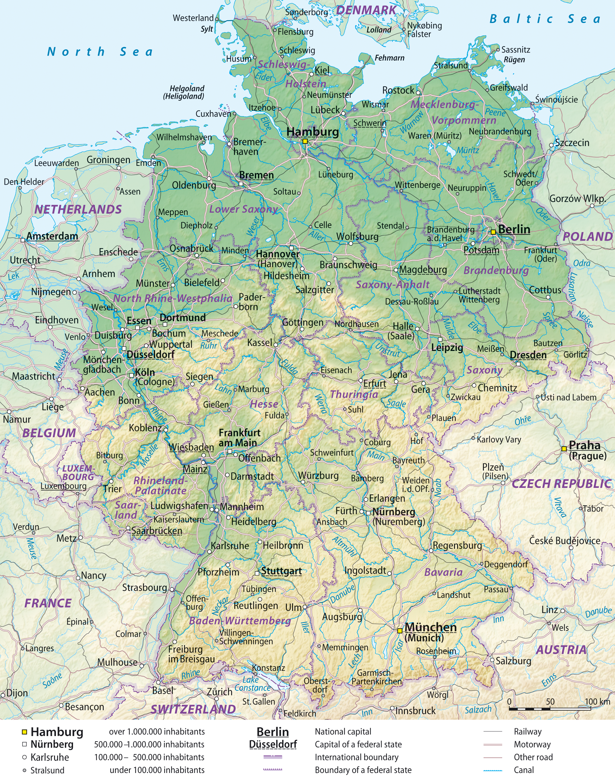 Map Of Germany General Map Worldofmapsnet Online Maps And - Germany map view