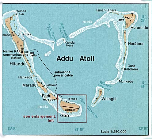 Map Of The Maldives Addu Atoll Worldofmaps Net Online Maps