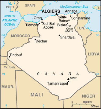 Map of Algeria (Overview Map) : Worldofmaps.net - online ...
