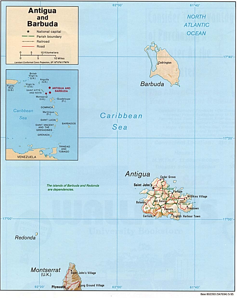 Map Antigua and Barbuda (Relief Map) : Worldofmaps.net - online Maps ...