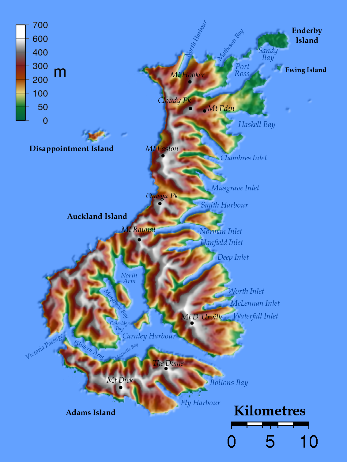 Map Auckland Islands : Worldofmaps.net - online Maps and ...
