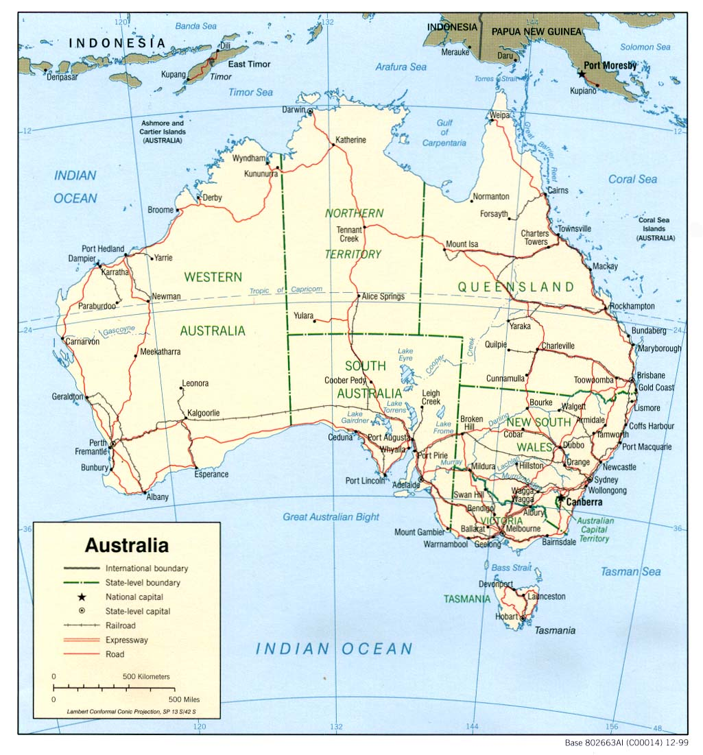 Map of Australia (Political Map) : Worldofmaps.net - online ...
