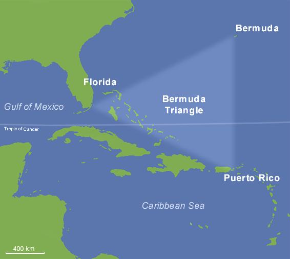 Map of Bermuda Triangle (Overview Map) : Worldofmaps.net ...