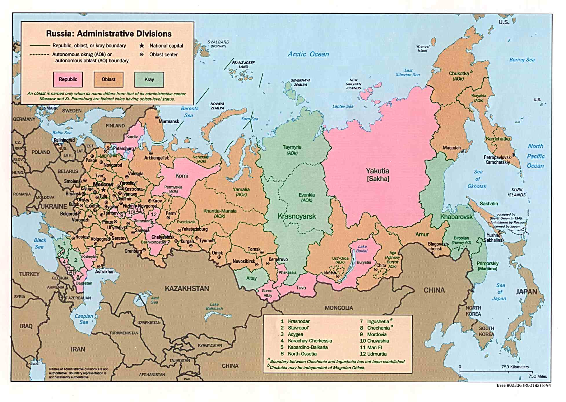Map of Russia (Administrative Divisions) : Worldofmaps.net ...