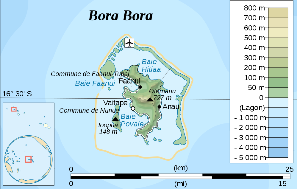 Overview Map of Bora Bora online Maps and Travel Information