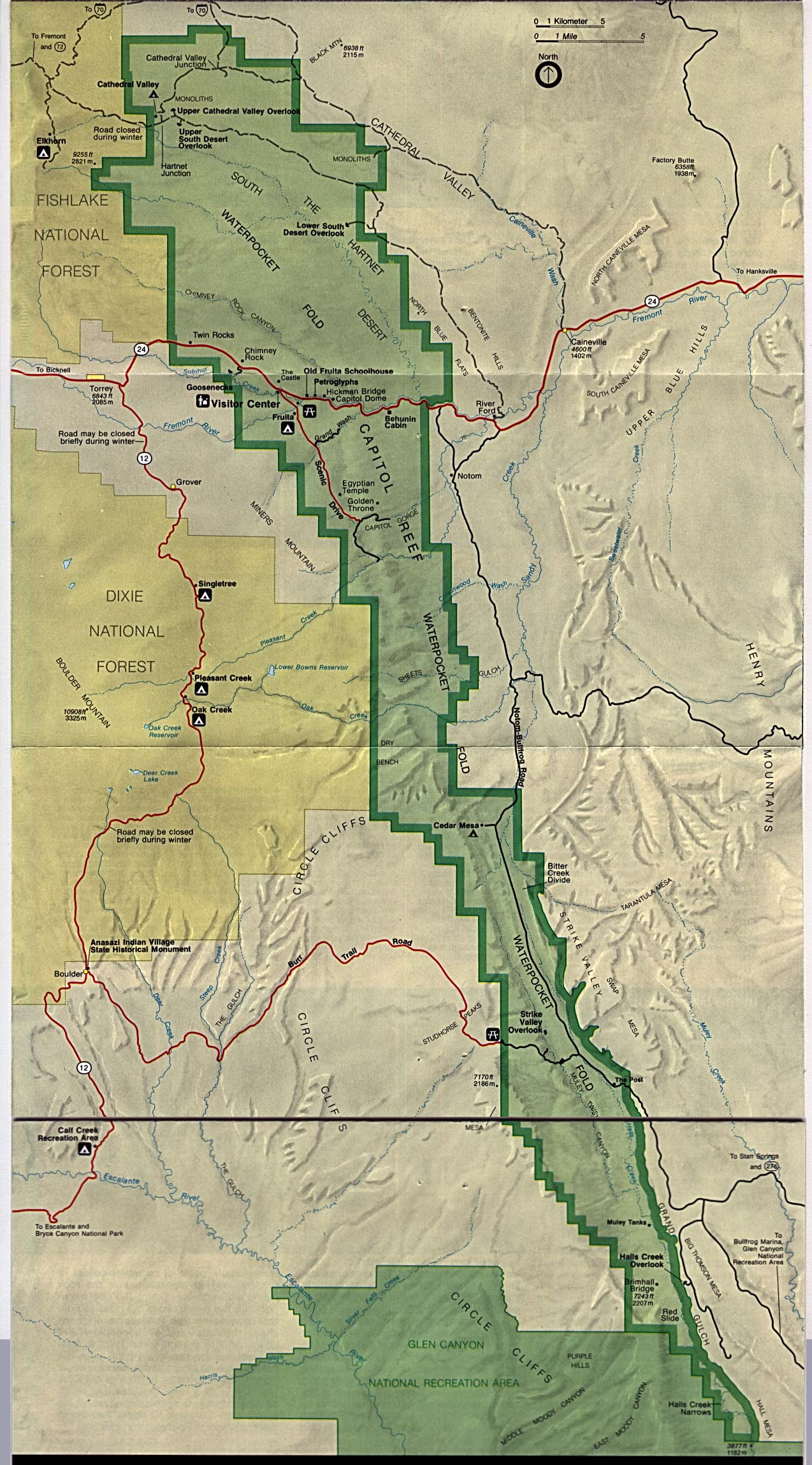 Map of Capitol Reef National Park : Worldofmaps.net - online ...
