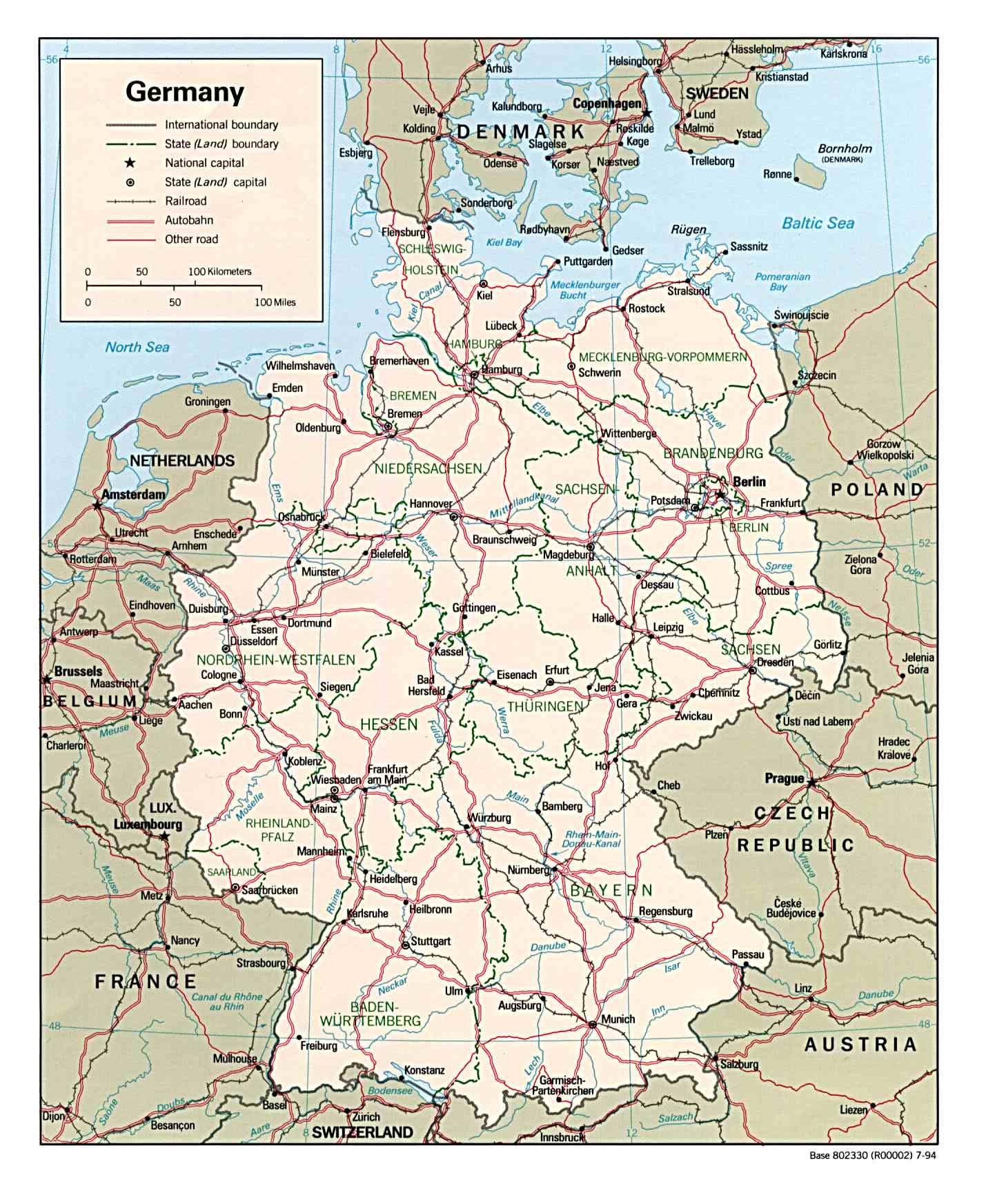 Map of Germany (Political Map) : Weltkarte.com - Karten und ...