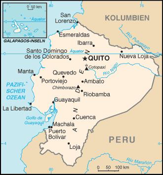 Map of Ecuador (Small Overview Map) : Worldofmaps.net ...