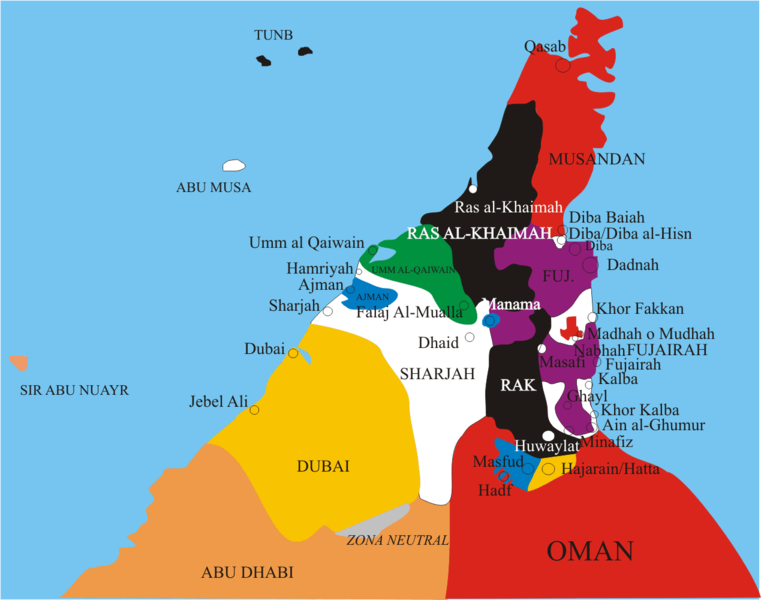 Region S Karte.Map Of United Arab Emirates Regions Emirates Worldofmaps Net