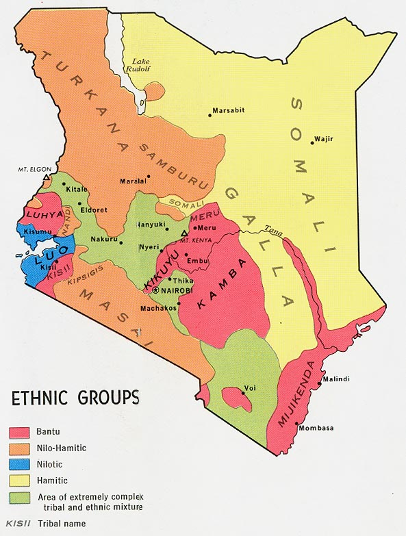 Map Ethnic Groups in Kenya : Worldofmaps.net - online Maps ...
