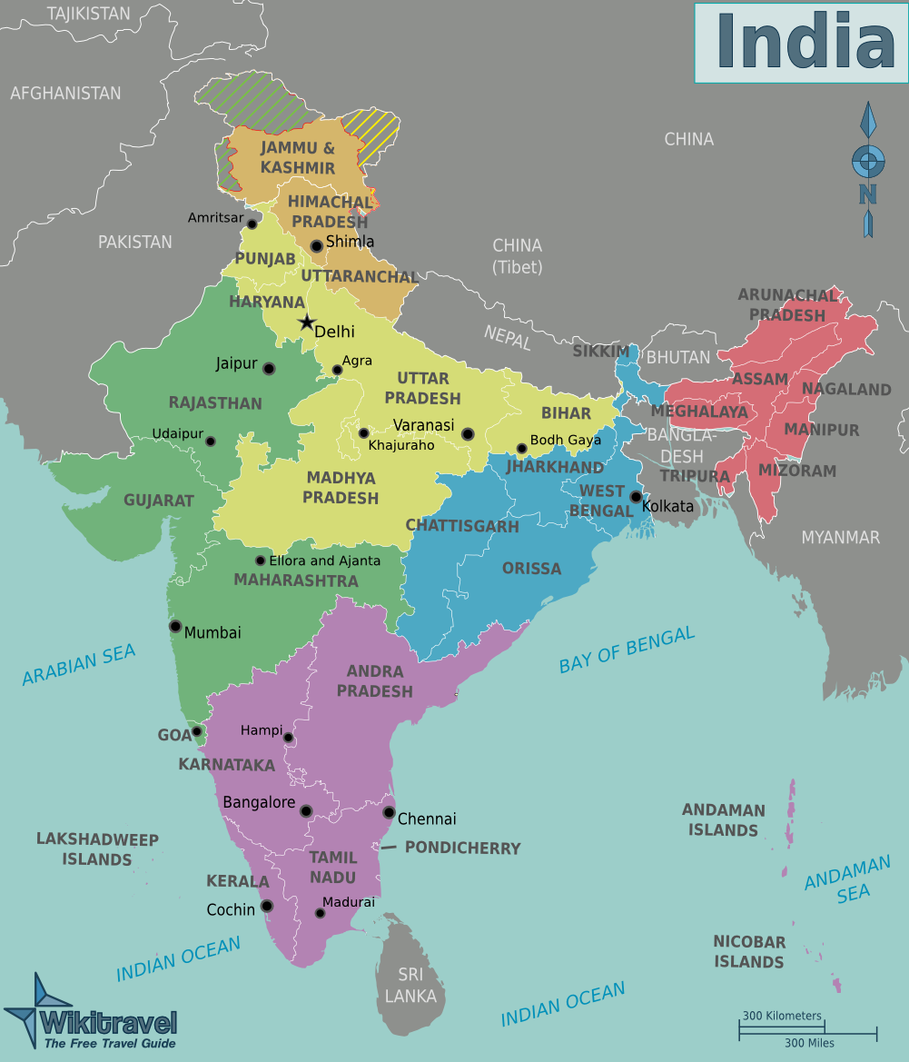 India Regions Map Regional Map Of India ~ AFP CV India Regions Map