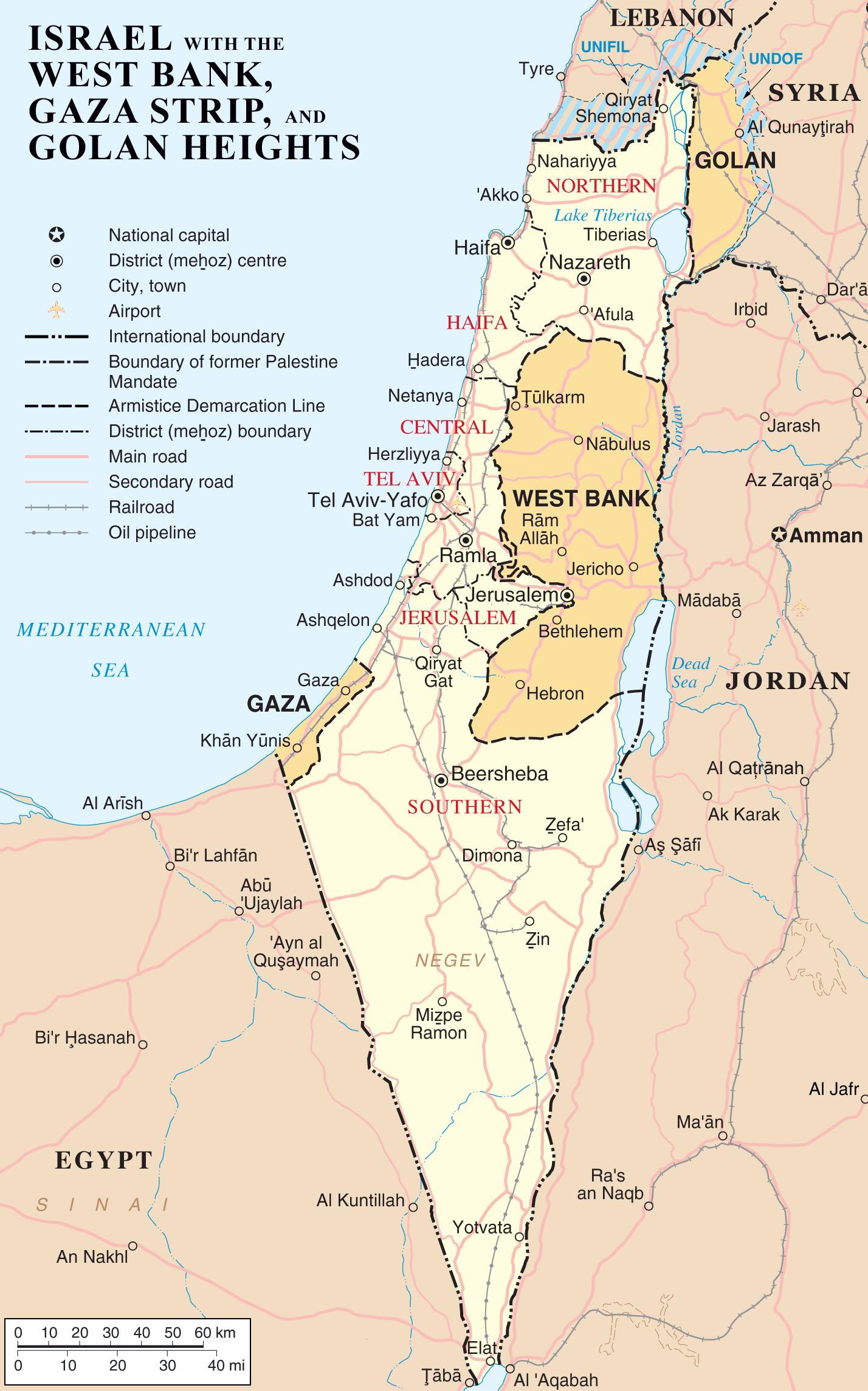 Israel Karte.Map Of Israel Occupied Territories Worldofmaps Net Online Maps