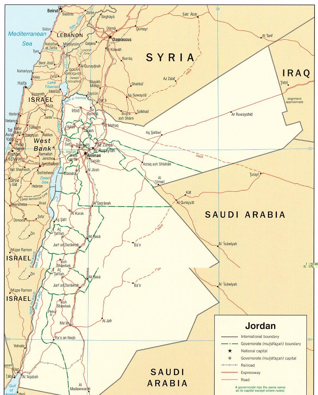 Map of Jordan (Political Map) : Worldofmaps.net - online ...