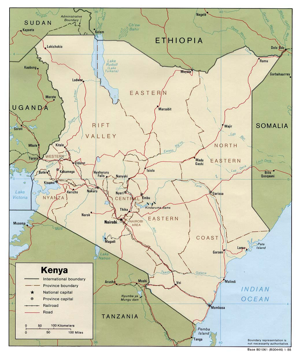 Map of Kenya (Political Map) : Worldofmaps.net - online Maps ...