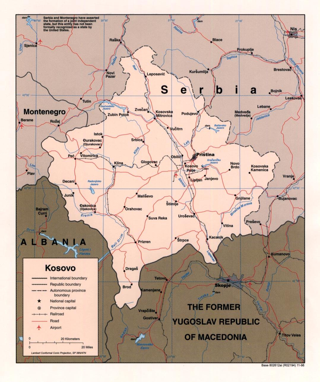 Map Of Kosovo Political Map Weltkarte Com Karten Und