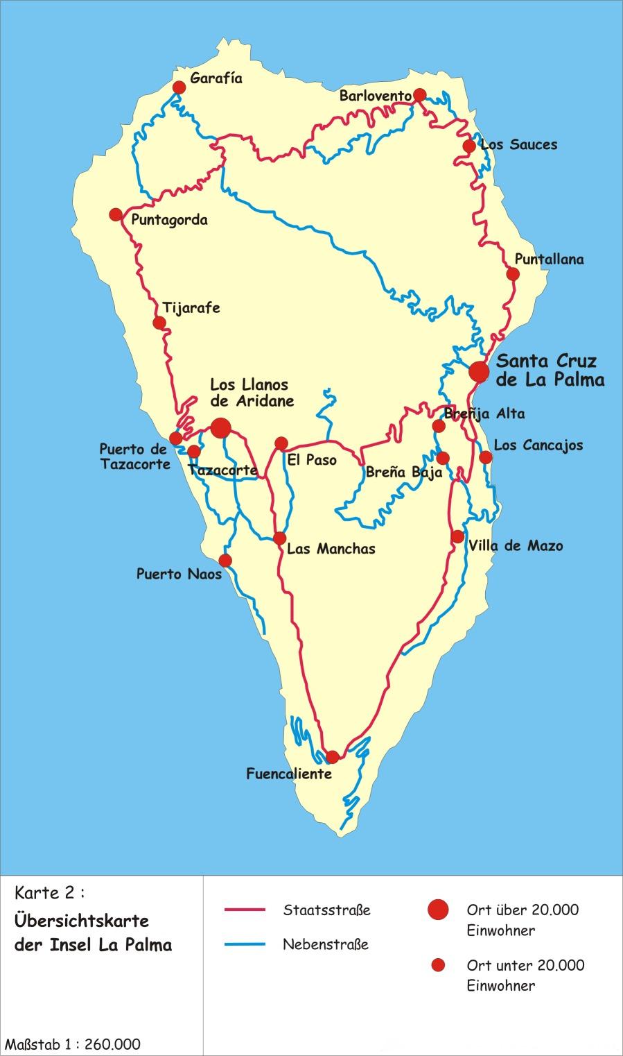la palma karte Map of La Palma (Canary Island) : Worldofmaps.  online Maps