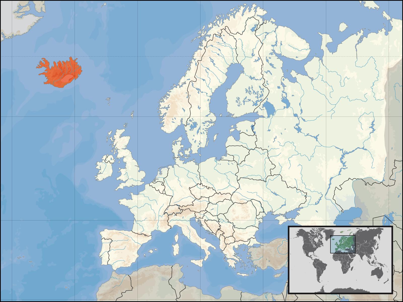 Map of Iceland (Iceland in Europe) : Weltkarte.com - Karten und ...