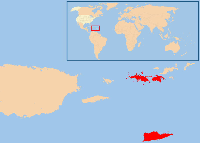 Map of U.S. Virgin Islands (Location Map) : Worldofmaps.net - online ...