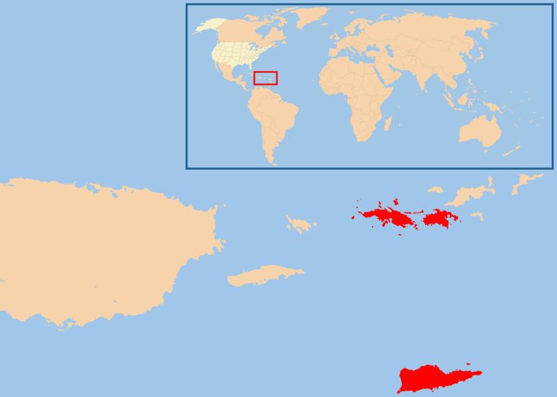 Map of U.S. Virgin Islands (Location Map) : Worldofmaps.net ...