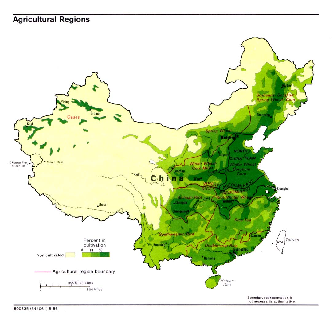 Region S Karte.Map Of China Agricultural Regions Worldofmaps Net Online Maps