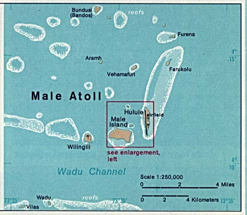 Map Of The Maldives Male Atoll Worldofmaps Net Online Maps