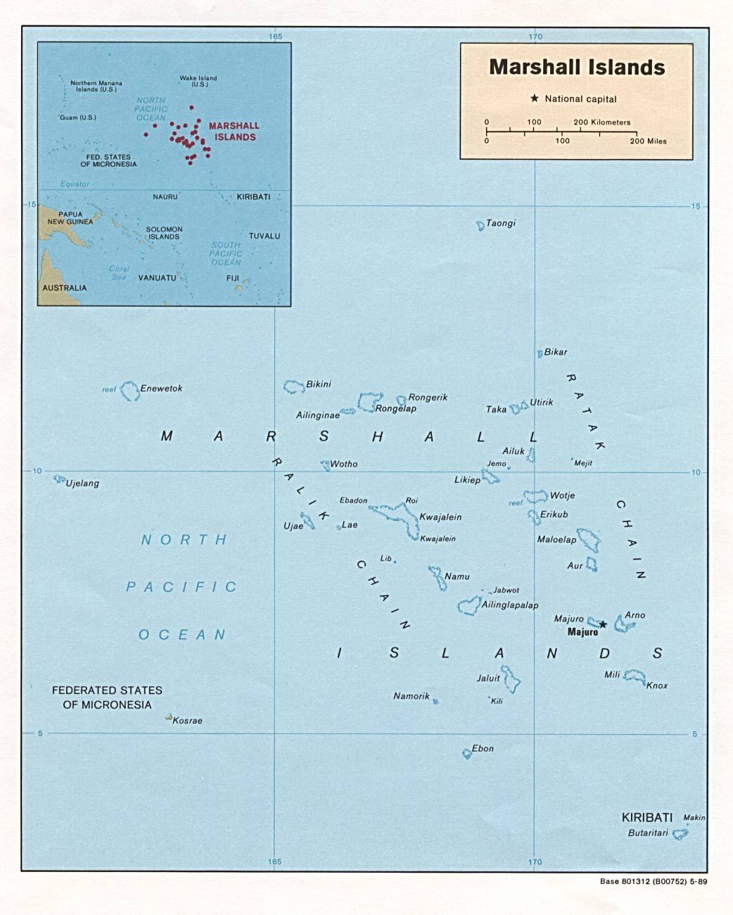 Map of Marshall Islands : Worldofmaps.net - online Maps and ...