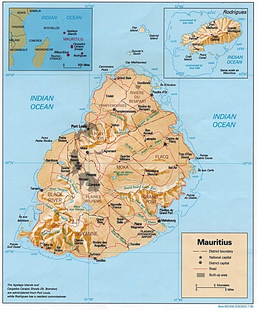 Map Of Mauritius Relief Map Weltkarte Com Karten Und
