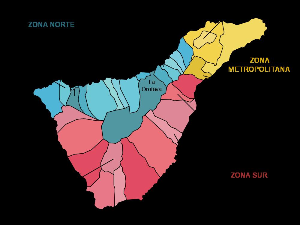 Map of Tenerife (Municipios) : Worldofmaps.net - online Maps ...