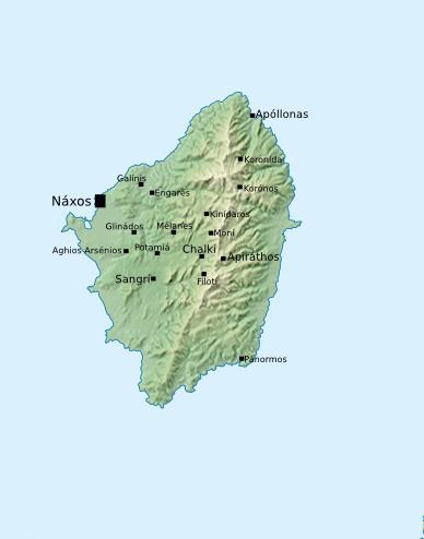Map Of Naxos Greece Weltkarte Com Karten Und Stadtplane Der Welt