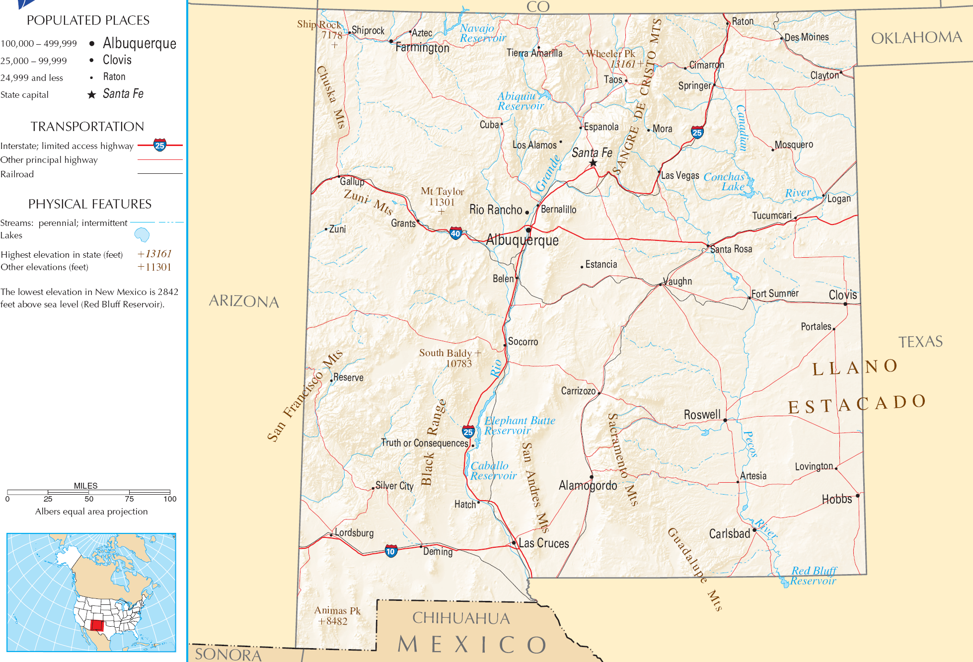 Map of New Mexico (Street Map) : Worldofmaps.net - online ...