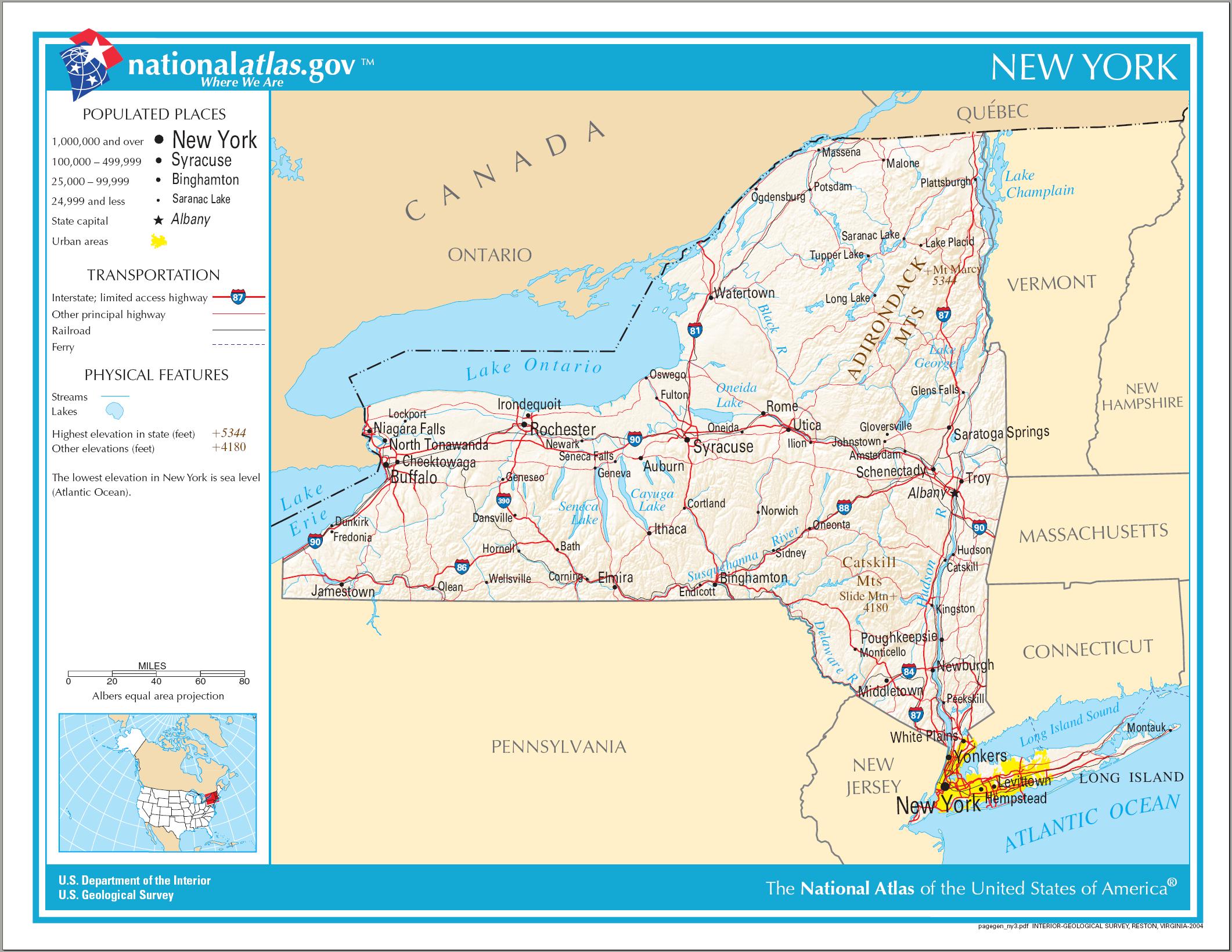 Map of New York (Street Map) : Weltkarte.com - Karten und ...