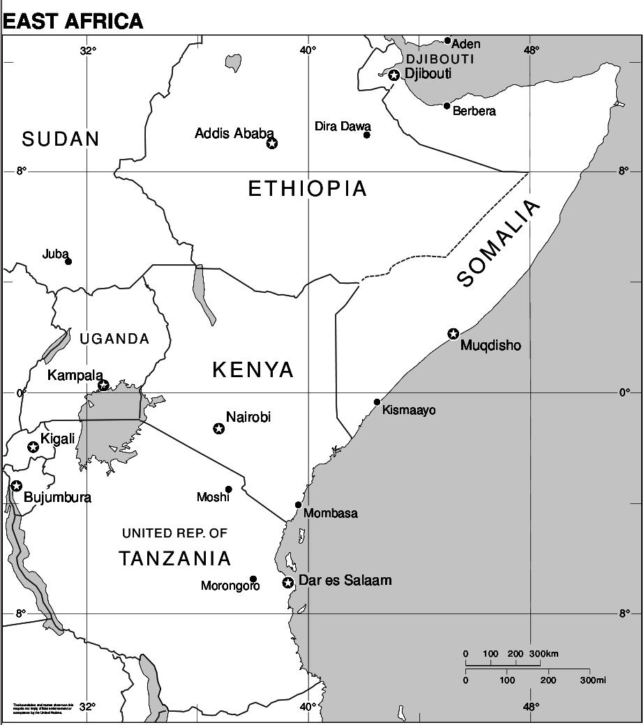Map of Africa (East Africa) : Worldofmaps.net - online Maps ...