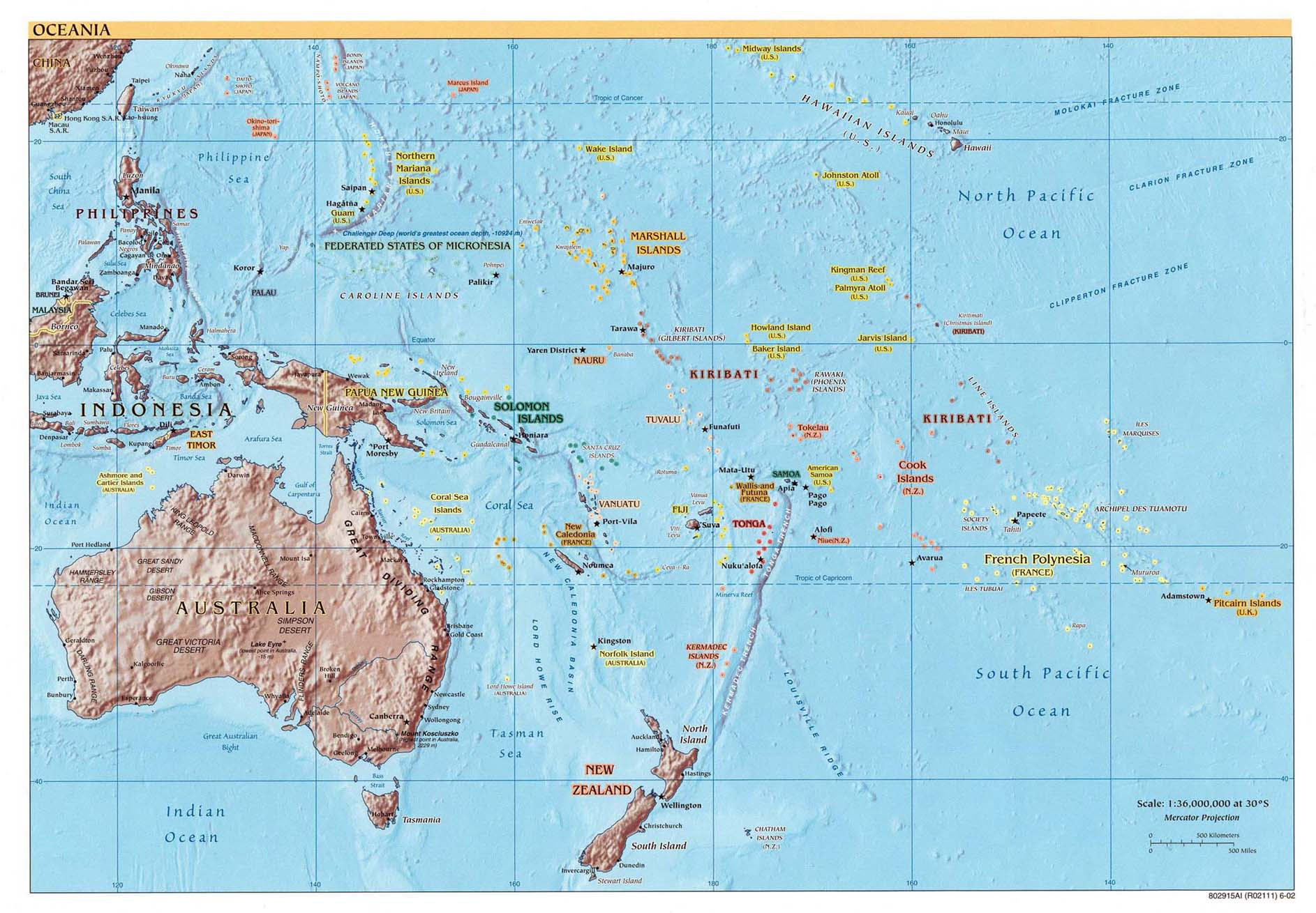 Map of pacific ocean relief map worldofmaps online maps map of pacific ocean relief map gumiabroncs Choice Image