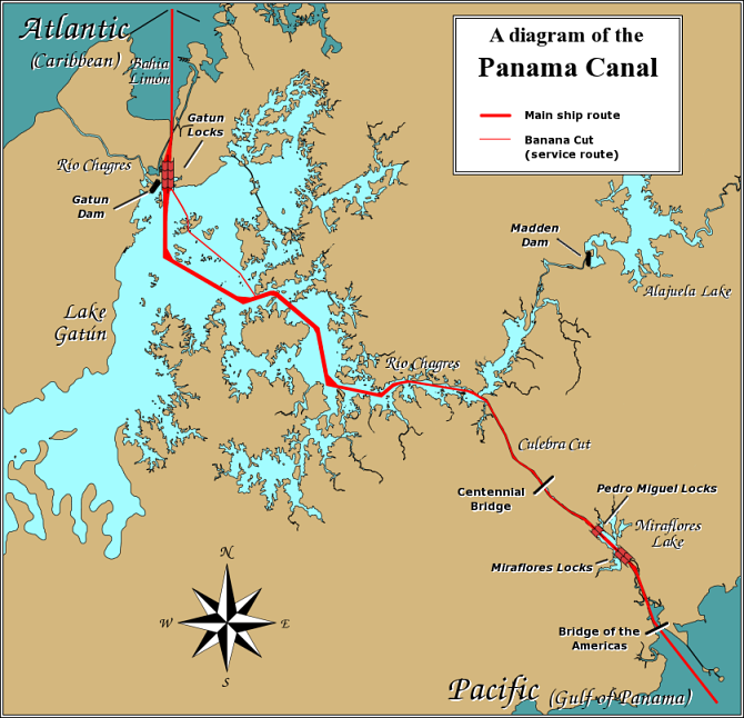 Map of Panama (Panama Canal) : Worldofmaps.net - online Maps ...