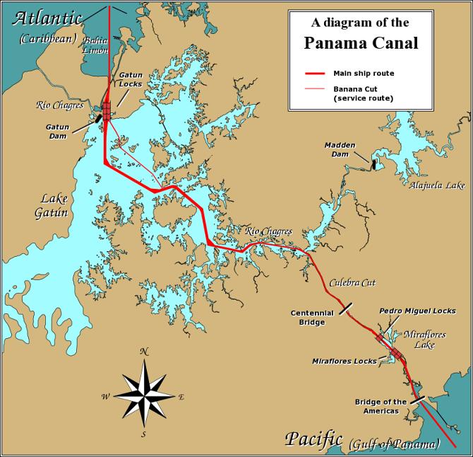 Map of Panama (Panama Canal) : Worldofmaps.net - online Maps and ...