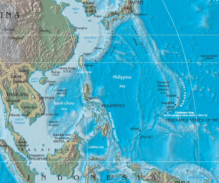 Maps of the Philippines (Relief Map) : Weltkarte.com ...