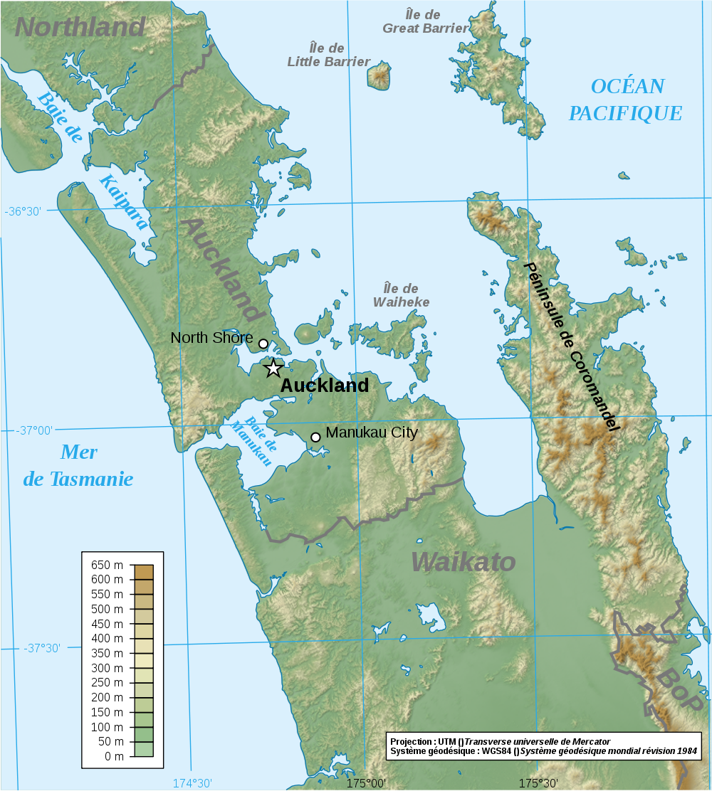 Map New Zealand: Map Auckland Region : Worldofmaps.net - online Maps ...