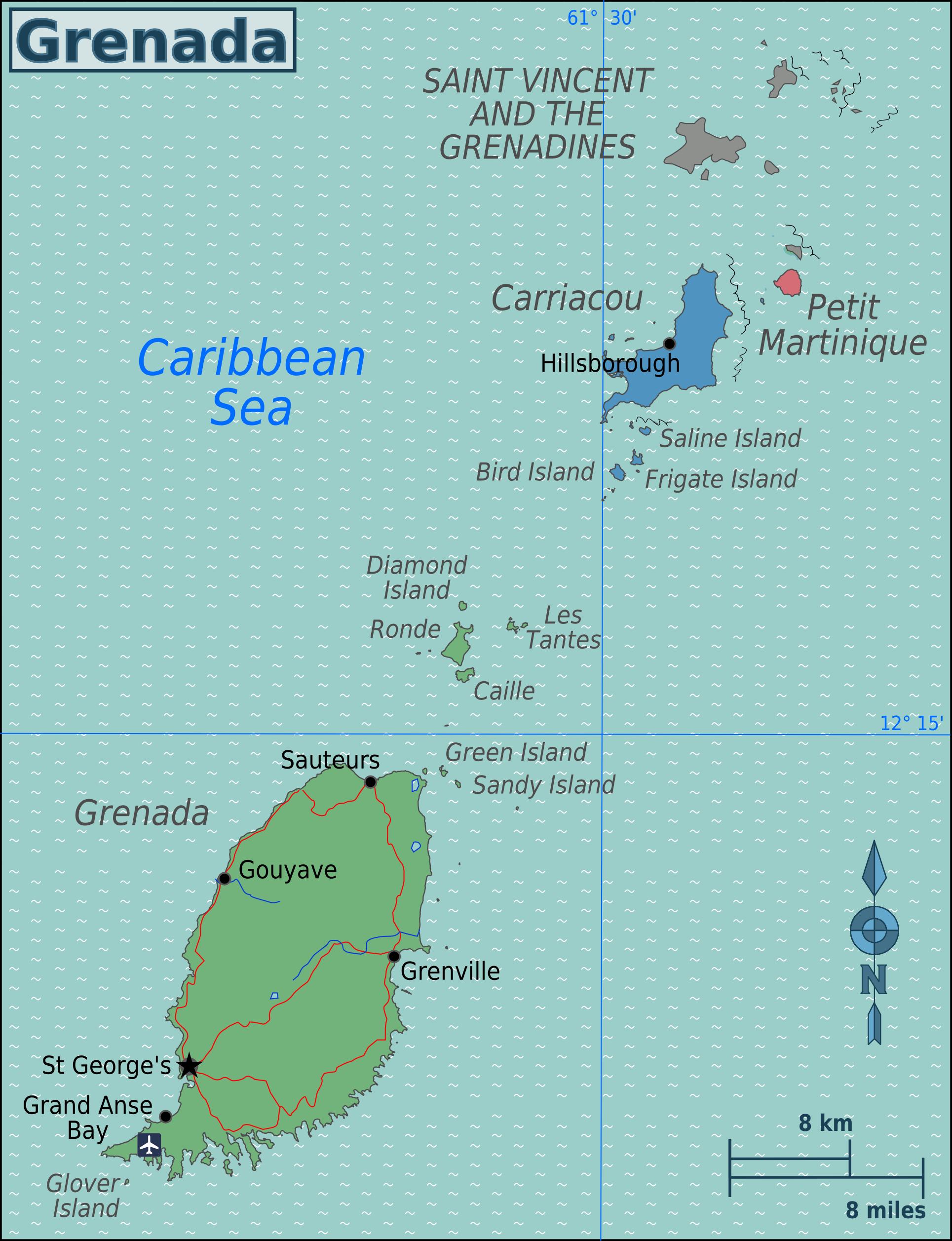Map Of Grenada Overview Map Worldofmaps Net Online