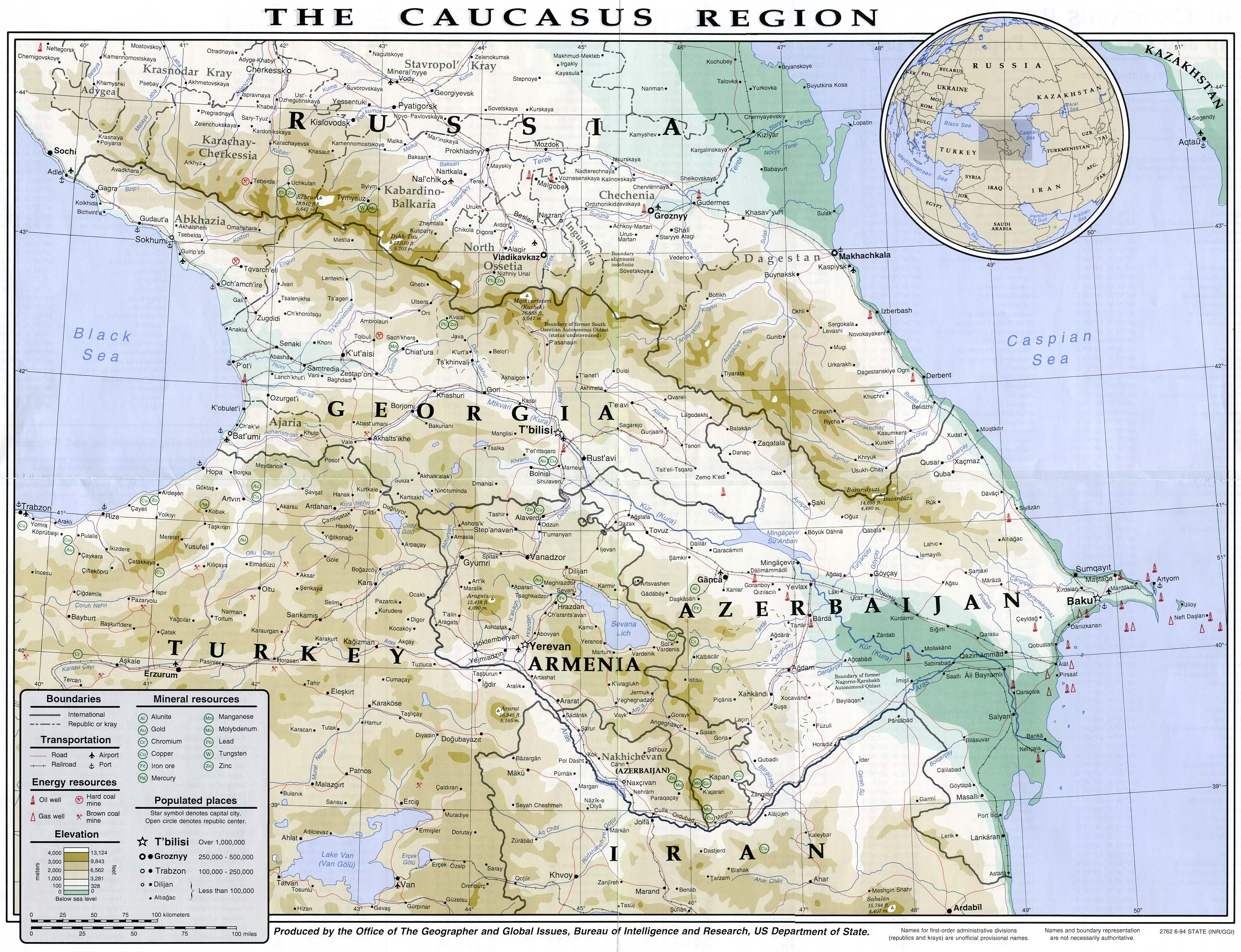 Map Of Caucasus Georgia In Caucasus Worldofmaps Net Online