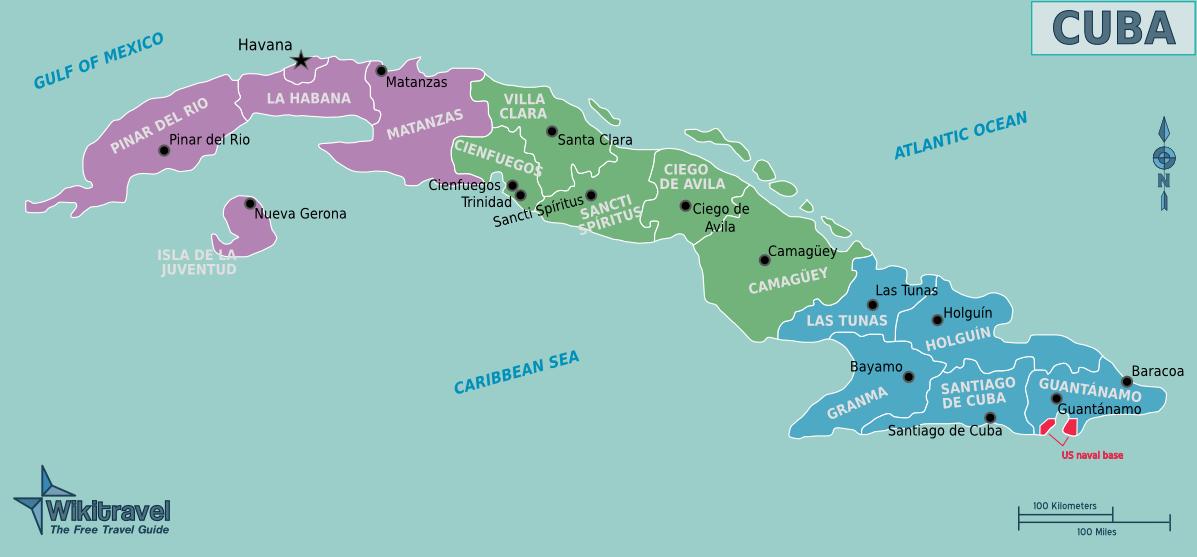 Map of Cuba (Overview Map/Regions) : Worldofmaps.net ...