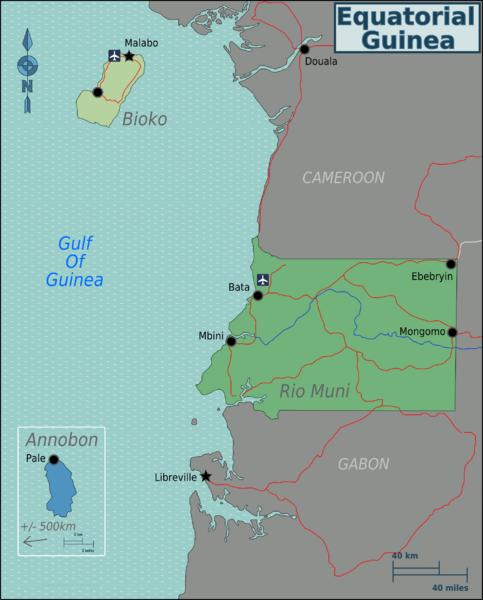 Map of Equatorial Guinea (Map Regions) : Weltkarte.com - Karten und ...