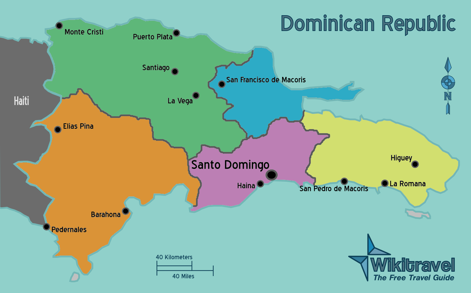 Map of Dominican Republic Political Map  Weltkartecom  Karten