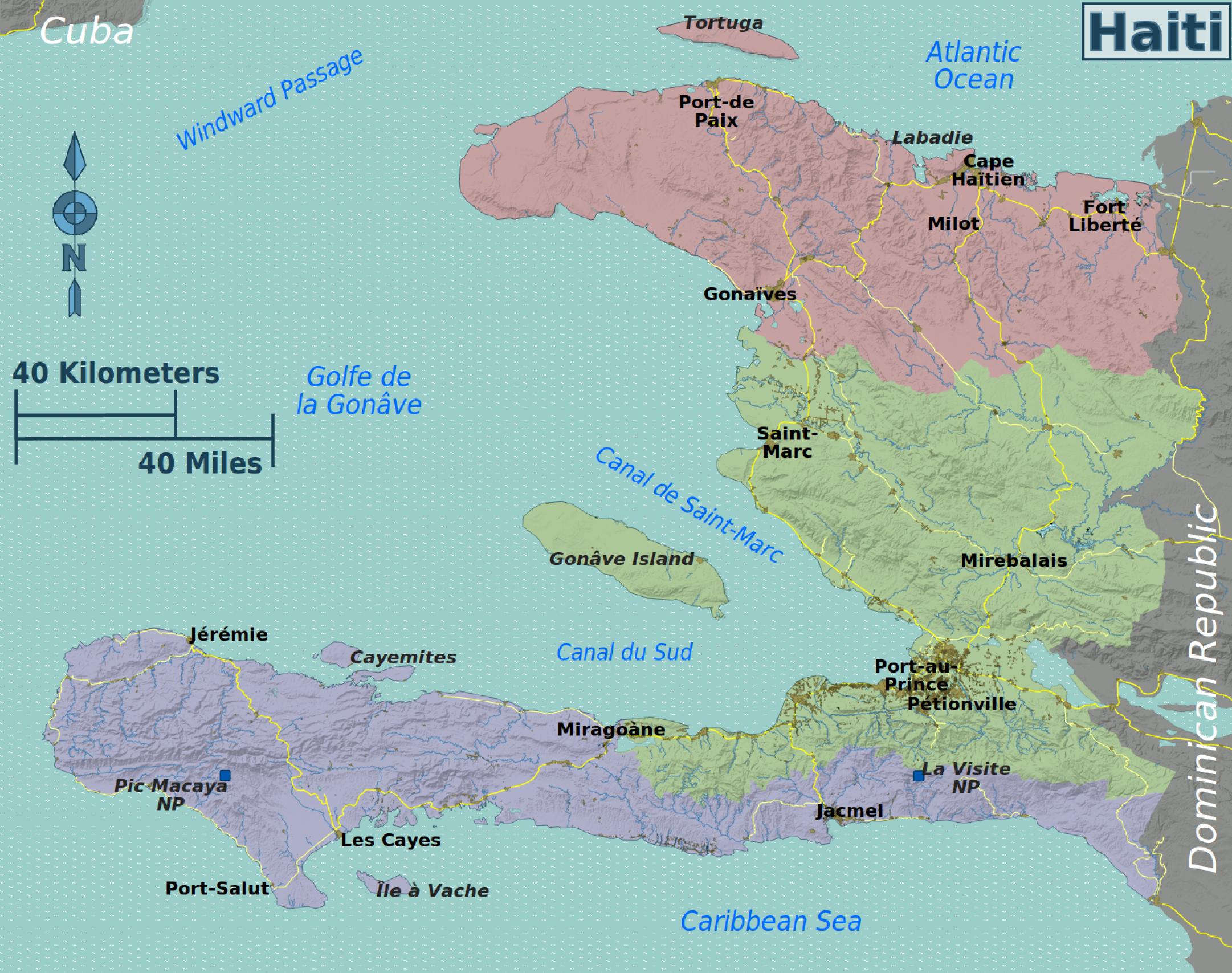 Map of Haiti (Overview Map/Regions) : Worldofmaps.net ...