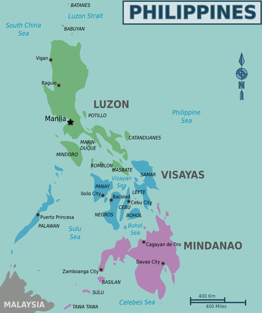 karte philippinen Maps of the Philippines (Overview Map/Regions) : Worldofmaps.