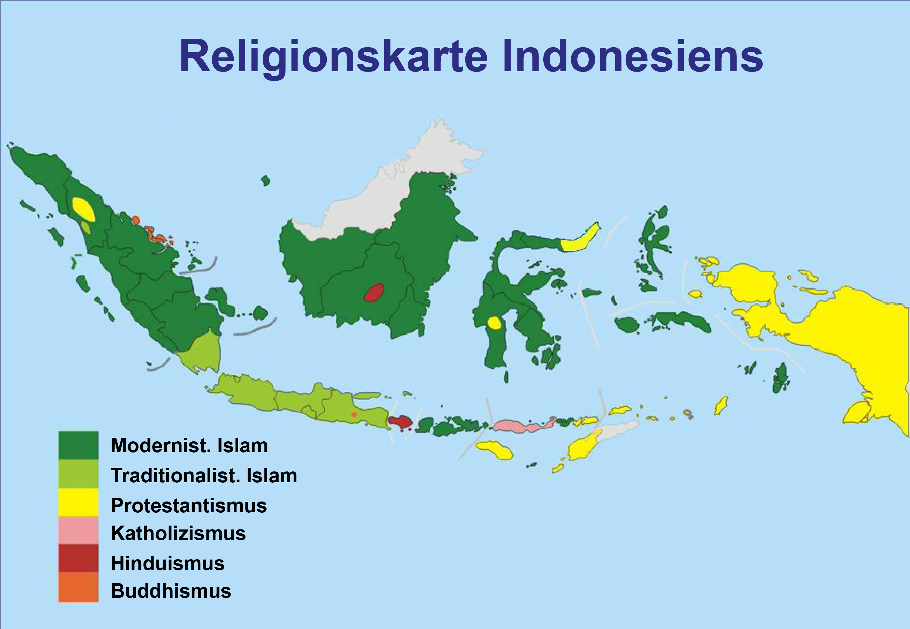 Map of Indonesia (Map Religions) : Weltkarte.com - Karten ...